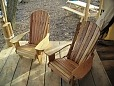 Our handmade Adirondack Chairs on the deck